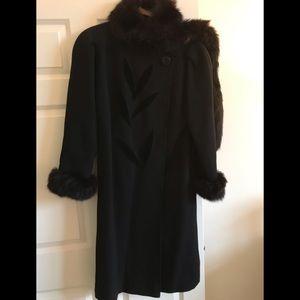 Jackets & Blazers - Black Coat with fur